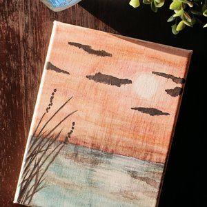 AWAITING TWILIGHT ✺ watercolor painting (6x8 cnvs)